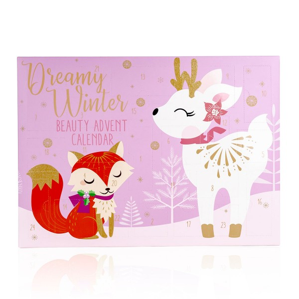 Adventskalender Beauty mit Reh und Fuchs