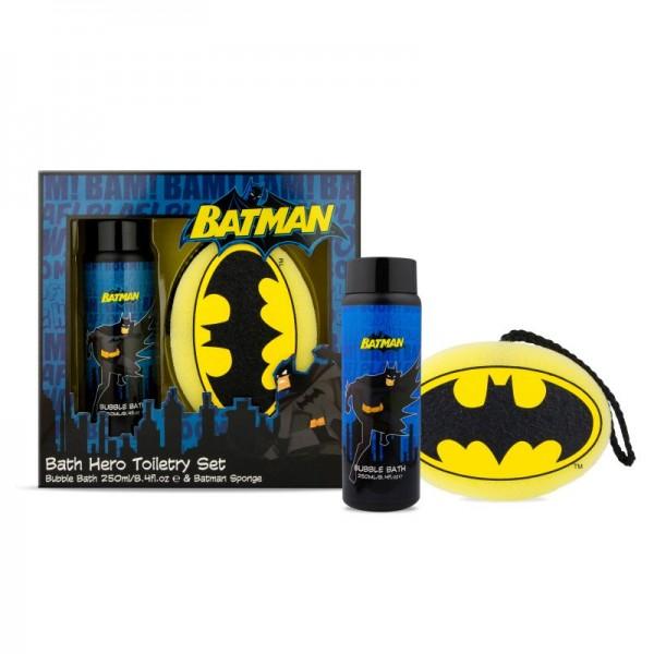 Geschenkset Batman mit Badeschwamm