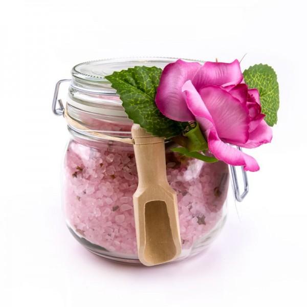 Rosen Badesalz mit Blüte