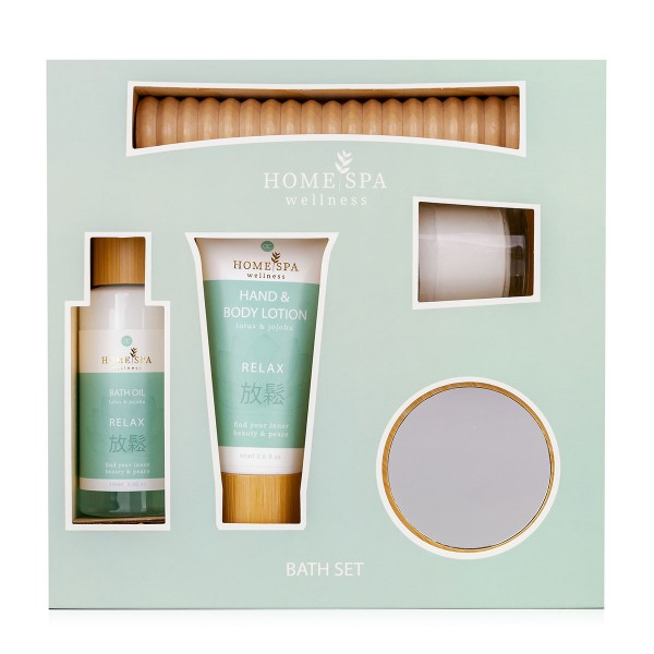 Badeset Home Spa mit Holzbox