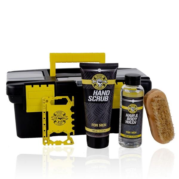Geschenkset Bath & Body Tools in kleinem Werkzeugkoffer