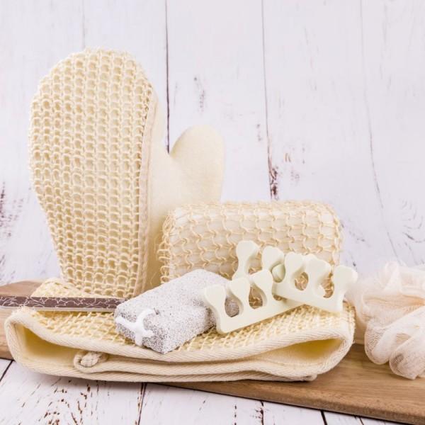 Wellness-Set für strahlende Haut und gepflegte Füße 7-teilig