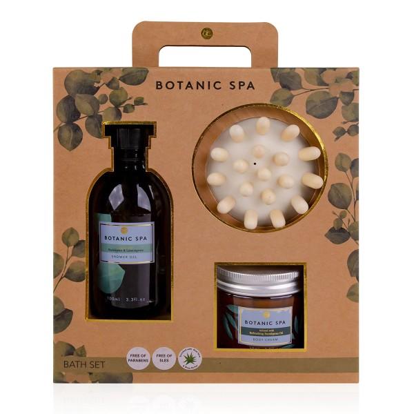 Geschenkset Botanic Spa mit Massagebürste