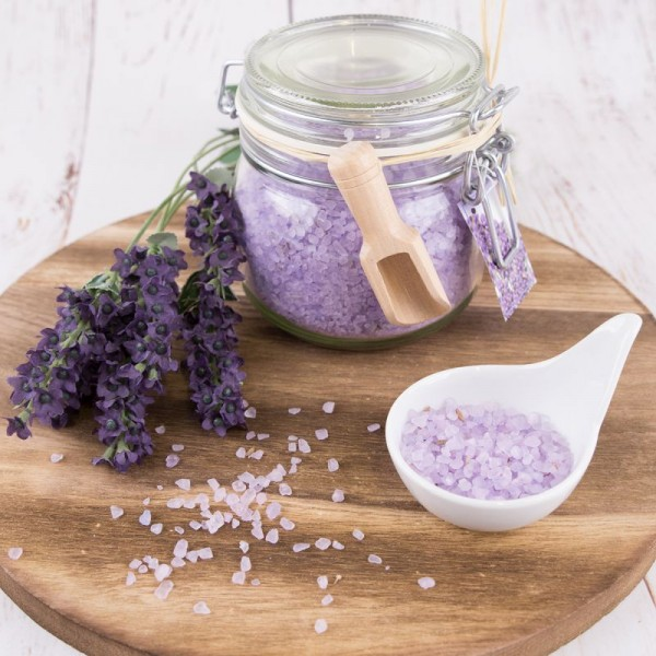 Lavendel Badesalz Deko