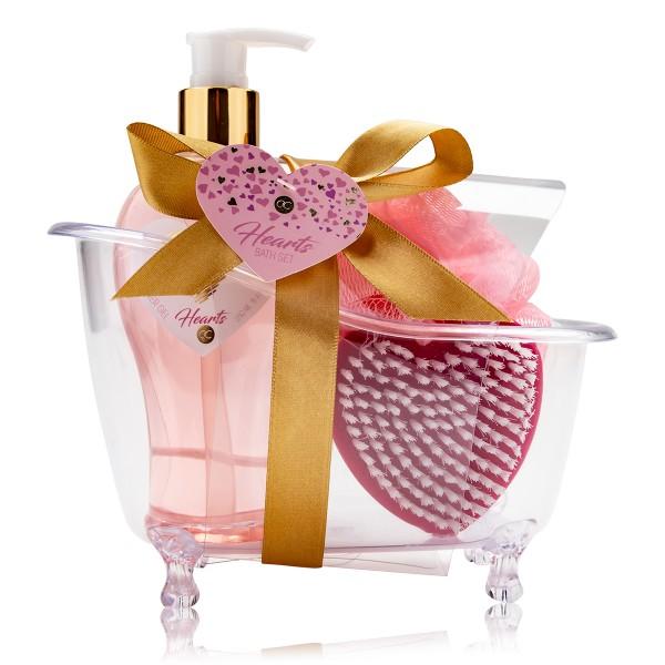 Geschenkset Hearts in Deko-Badewanne